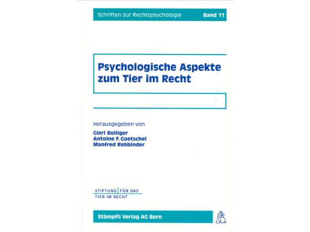 Cover Psychologische Aspekte zum Tier im Recht quer