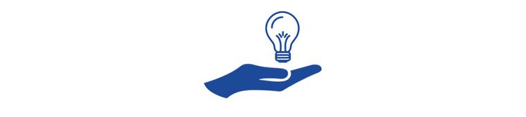 Icon Hand Glühbirne Projektspenden 800x180