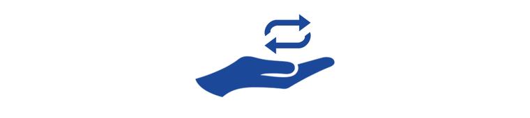 Icon Hand Repeat regelmässige Spende